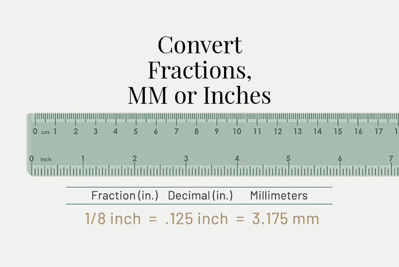Convert Inches to MM and Convert MM to Inches